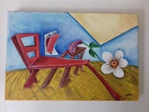 Pintura acrílica sobre tela 20x30.