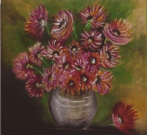 Título da  obra: Flores no vaso.