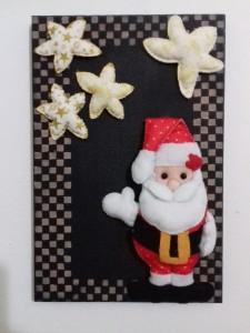 Enfeite de porta Papai Noel